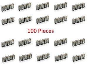 100 Pieces Shielded Cat6 RJ45 Modular Plug Network Connector 8P8C - 100% New!
