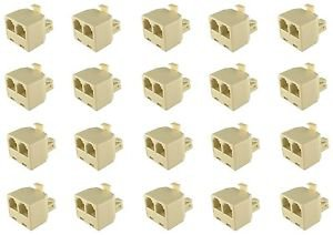 20 Pieces of RJ11 Male to 2 x RJ11 Female Telephone Splitter 6P4C - 100% New!
