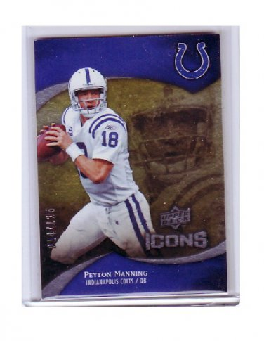 Peyton Manning 2009 UD Icons #90 Colts, Broncos Serial #014/125