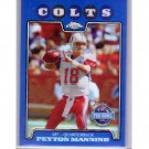 Peyton Manning 2008 Topps Chrome Blue Refractor #TC143 Colts, Broncos