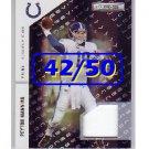 #/50 Peyton Manning 2011 Rookies & Stars Longevity Materials Black Prime #66 Colts, Broncos