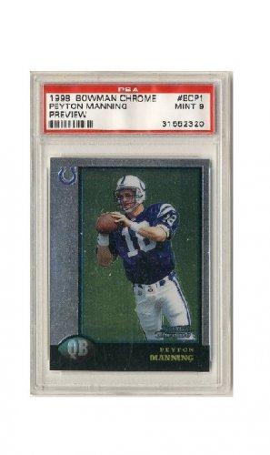 Peyton Manning 1998 Bowman Chrome Preview RC #BCP1 PSA Mint 9