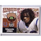 Edgerrin James 2001 Finest Stadium Seat Relic #FS-EJ Colts