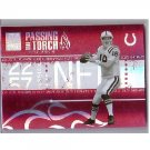 Peyton Manning 2005 Elite Passing the Torch #PT-18 Colts, Broncos Serial #0823/1000