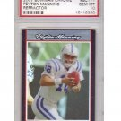 Peyton Manning 2007 Bowman Chrome Refractor #BC171 Gem Mint PSA 10 Colts