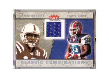 Peyton Manning 2003 Fleer Tradition Classic Combination Jersey #CC-PM Colts, Broncos