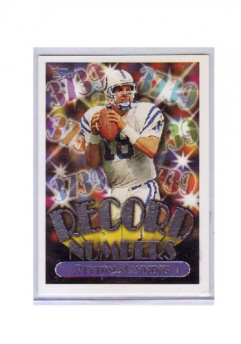 Peyton Manning 1999 Topps Record Numbers #RN9 Colts, Broncos