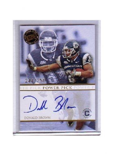 Donald Brown 2009 Press Pass Authentics Autograph #PP-DB Colts #/250