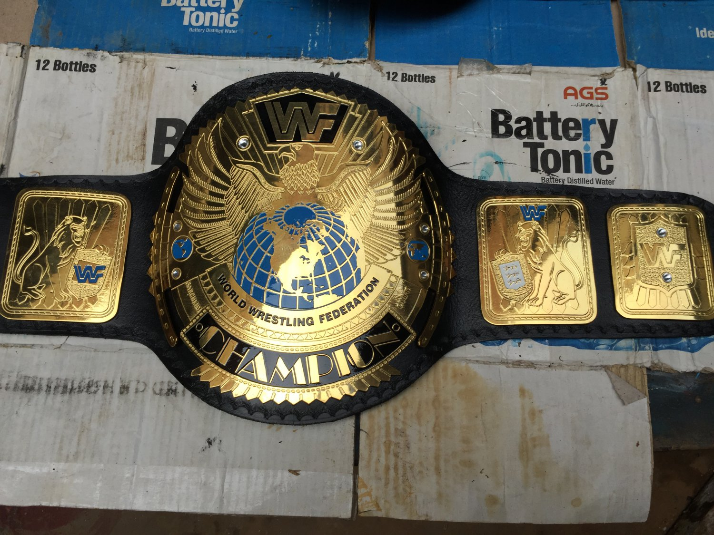 World Heavyweight WWF  WWE Big Eagle Championship Replica Belt Leathers