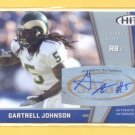 2009 Sage Hit Autograph Silver Gartrell Johnson RC Chargers
