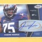 2009 Sage Hit Autograph Eugene Monroe RC Jaguars