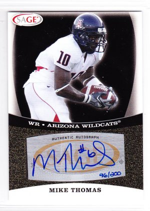 2009 Sage Autograph Gold Mike Thomas RC /200 Jaguars