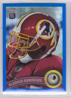 2011 Topps Chrome Blue Refractor Aldrick Robinson Redskins RC /199
