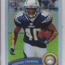 2011 Topps Chrome Refractor Jordan Todman Chargers RC
