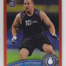 2011 Topps Chrome Orange Refractor Anthony Castonzo Colts RC