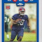 2008 Topps Chrome Blue Refractor Leodis McKelvin Bills RC