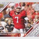 2009 Upper Deck Draft Matthew Stafford Lions RC