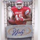 2011 Sage Hit Autograph Silver D.J. Williams Packers DJ RC