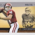 2010 Sage Hit The Write Stuff Sam Bradford Rams RC