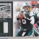 2011 Threads Franchise Fabrics Prime Jersey Mark Sanchez Jets /50