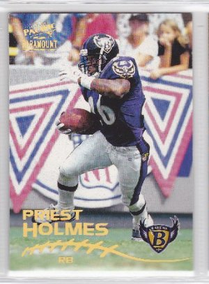 1998 Pacific Paramount Priest Holmes Chiefs RC
