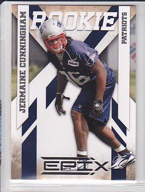 2010 Epix Jermaine Cunningham Patriots RC
