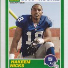 2009 Score Inscriptions 1989 Score Hakeem Nicks Giants RC