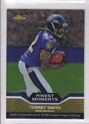 2011 Topps Finest Moments Torrey Smith Ravens RC