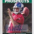 2008 SP Rookie Edition 95 Autograph Andre Woodson Giants RC