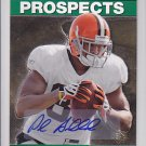 2008 SP Rookie Edition 95 Autograph Paul Hubbard Browns RC