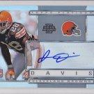 2009 Topps Platinum Autograph James Davis Browns /1050 RC