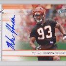2009 UD Signature Shots Autograph Michael Johnson Bengals RC