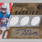 2009 SPX Jersey Autograph Derrick Williams Lions /549 RC