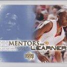 2003-04 UD Top Prospects Mentors and Learners #ML7 Michael Jordan Bulls