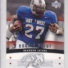 2005 UD Rookie Debut Brandon Jacobs Giants RC