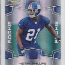 2008 Score Select Kenny Phillips Giants /999 RC