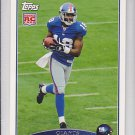 2009 Topps Hakeem Nicks Giants RC