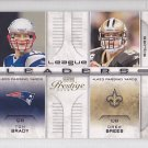 2008 Playoff Prestige League Leaders Tom Brady Drew Brees Patriots Saints