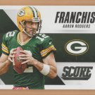 2015 Score Franchise Aaron Rodgers Packers