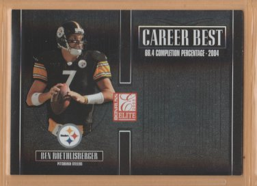 2005 Donruss Elite Career Best Black Ben Roethlisberger Steelers /250