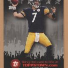 2009 Topps Toppstown Ben Roethlisberger Steelers