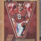 2005 Zenith Spellbound Gold Letter V Steve Young 49ers /100