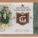 2011 Topps Legends Gridiron Legacies Brett Favre Packers