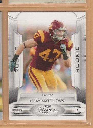 2009 Playoff Prestige Rookie Clay Matthews RC Packers