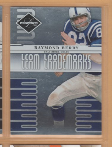 2008 Leaf Limited Team Trademarks Raymond Berry Colts /999