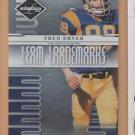 2008 Leaf Limited Team Trademarks Fred Dryer Rams /999
