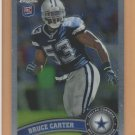 2011 Topps Chrome Rookie Bruce Carter Cowboys RC