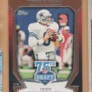 2010 Topps 75th Draft Anniversary Troy Aikman Cowboys