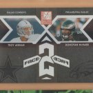 2005 Donruss Elite Face 2 Face Black Troy Aikman Cowboys /500