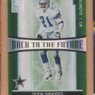 2006 Donruss Elite Back to the Future Deion Sanders Cowboys /1000 w/ Roy Williams